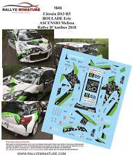 DECALS 1/43 REF 1645 CITROEN DS3 R5 BOULADE Rallye D'Antibes 2018   RALLY