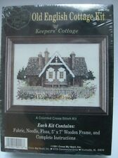 2 Old English Cottage Kits Keepers Cottage Brick and Timber Cottage Cross Stitch