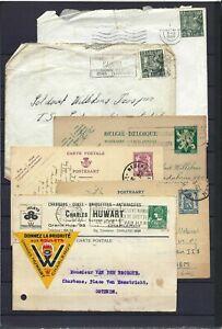 [LG16208] Belgium Nice lot Covers & Postal cards UNG