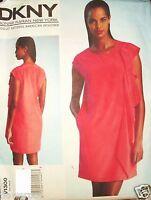 Vogue Pattern 1300 DESIGN Donna Karan DKNY Flounce Dress Slip UC 14-16-18-20-22