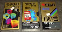 S-VHS FUJI SE-180 PRO A/ -PRO S/ -PRO N Video Kassette SEALED NEU & OVP TOP