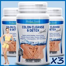 180 COLON CLEANSE CAPSULES 2000mg DAILY WEIGHT LOSS DIET DETOX SLIMMING PILLS