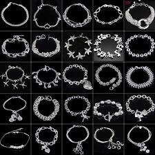 Fashion 925 Sterling Silber Armband Damen Mädchen Schmuck Armreifen Kette Neu