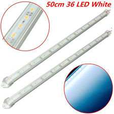 2pcs 12V 50cm Car Clear White LED 5630 SMD Interior Strip Light Bar Van Caravan
