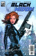 BLACK WIDOW #1 SIGNED BY ARTIST GREG LAND & BILL SIENKIEWICZ
