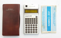 Vintage Casio fx-3100 Scientific Electronic Calculator Yellow LCD Manual Rare