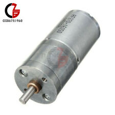 Micro Speed Reduction Gear Motor Electric 12V DC 60RPM Powerful Torque 25mm Dia