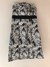 Womens H&M Strapless Fitted Dress UK 16 Eur 42 Knee Length Dress Holiday Summer