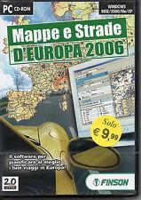 MAPPE E STRADE D'EUROPA  2006 FINSON PC CD ROM