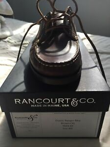 NWB Rancourt & Co Classic Ranger Moc Brown Horween Chromexcel Leather 10E USA