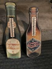 LIMITED EDITION!  Pepsi REPRODUCTION WOODEN BOTTLE SHAPED THERMOMETER