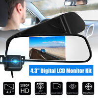 4.3'' LCD Mirror Monitor & Wireless HD LED Car Rear View Reversing Camera Kit CE