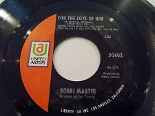 Bobbi Martin For The Love Of Him / I Think Of You 45 1969 United Vinyl Record