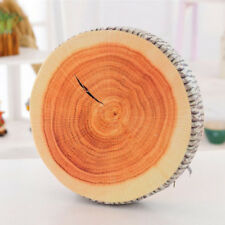 Wood 3D Funny Print Round Chair Cushions Seat Pads Patio Dining Office Outdoor