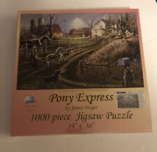 Pony Express 1000 piece country horse cart Sunsout jigsaw puzzle 28424