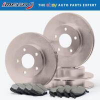 Power Stop CRK4744 Coated Brake Rotor /& Ceramic Brake Pads rear