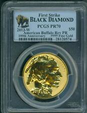 2013-W $50 GOLD BUFFALO REVERSE PROOF PCGS PR70 FIRST STRIKE FS BLACK DIAMOND