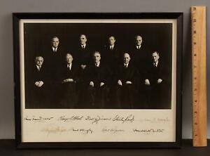 Circa-1946 US Supreme Court Photograph w/ Nine Autograph Signatures