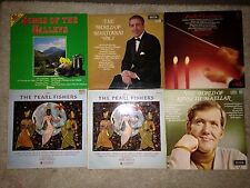 "Job lot of 6 LP's 12"" inch Albums - Mantovani The Pearl Fishers Maurice Hanford"