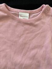 Hanna Andersson Pink Organic Cotton Bodyshirt- 6-12 Months