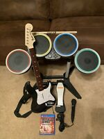 PS4 Rock Band 4 Bundle Sony Playstation 4 Guitar Drums Sticks Game Mic Pedal
