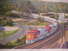 "Winfield,The Chief at S 0430 Railroad Art Pasadena/"",18 X24/"" s//n"