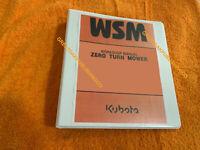 Kubota zg222 zero turn mower Workshop Service Repair Manualbinder