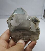 Grey chlorite included Quartz cluster
