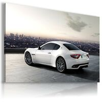 MASERATI WHITE  Super Sports Cars Large Wall Art Canvas Picture AU339 MATAGA