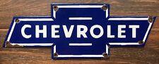 """Vintage """"Chevrolet"""" Porcelain Bowtie Enamel Sign 20"""" x 7"""""""