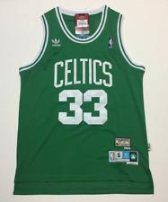 Larry Bird #33 Boston Celtics Throwback Vintage Men's Green Sewn Jersey NWT