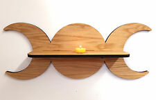 Oak Triple Goddess Shelf