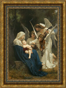 Old Maste Art Portrait Song of Angels Oil Painting Religious Unframed 36x48 in