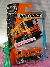2017 MATCHBOX #16 MBX SWISHER☆orange sweeper; maintenance☆Adventure City☆case J