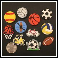 11 Shoe Charms for Crocs SPORTS Volleyball Kayak Soccer Basketball Soccer Goal