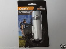 My Cycle, LED FRONT LIGHT, BE SEEN AND BE SAFER WITH THIS BIKE LIGHT 1-PIECE.