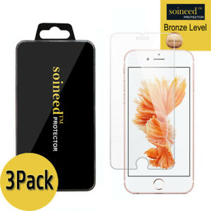 """[3-Pack]  SOINEED Apple """" iPhone 6S Plus """" Tempered Glass Screen Protector Saver"""