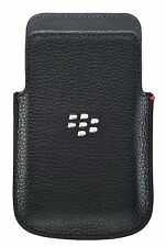 Genuine Blackberry Leather Pocket Pouch Case Cover for Q5 - Black