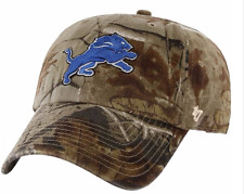 CAMO Detroit Lions BASEBALL HAT Adjustable NFL Cap Hunting Realtree Design NEW