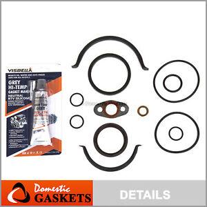 Fit 01-13 Nissan Infiniti 3.5L 4.0L DOHC Timing Cover Gasket Set VQ35DE VQ40DE