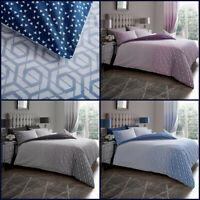 Ombre Print Duvet Cover Set Single Double Super King Size New Geometric Bedding