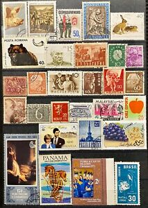 WORLDWIDE - SHIPS AND BOATS - LOT OF 29 USED STAMPS