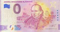 BILLET 0  EURO ANDREJ  BRAXATORIS SLOVAQUIE ANNIVERSARY 2020  NUMERO DIVERS