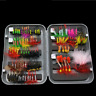 100pcs/Box Assortment Trout Fly Fishing Flies Lures Wet Dry Nymph Buzzers Lures