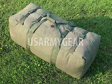 US Army Military Deployment Duffle Flight Sea Bag Sport Gym Back Pack OD USGI GC
