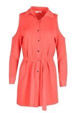 Vestiti da donna rosi manica lunghi con colletto