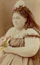 LEGENDARY PT Barnum FAT LADY HANNAH BATTERSBY! Rare FREAK PHOTO! 1860s CDV RARE!