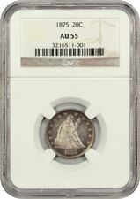 1875 20c NGC AU55 - 20-Cent Piece - Better Date
