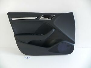 2019 AUDI S3 PREMIUM PLUS FRONT LEFT DRIVER DOOR TRIM PANEL BLACK OEM 502 #17 A