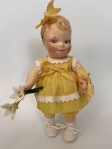 "2004 R. John Wright 7"" Felt Club Doll ""SUNSHINE SCOOTLE"""